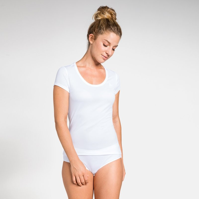 Women's ACTIVE F-DRY LIGHT Base Layer T-Shirt, white, large