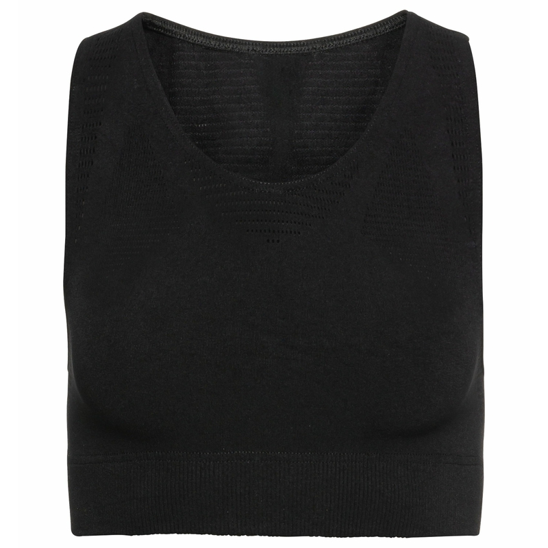 Damen ZEROWEIGHT WARP Lauf-Bralette, black, large