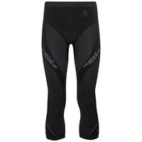 Pants 3/4 PERFORMANCE MUSCLEFORCESkiing Warm, black - platinum grey, large