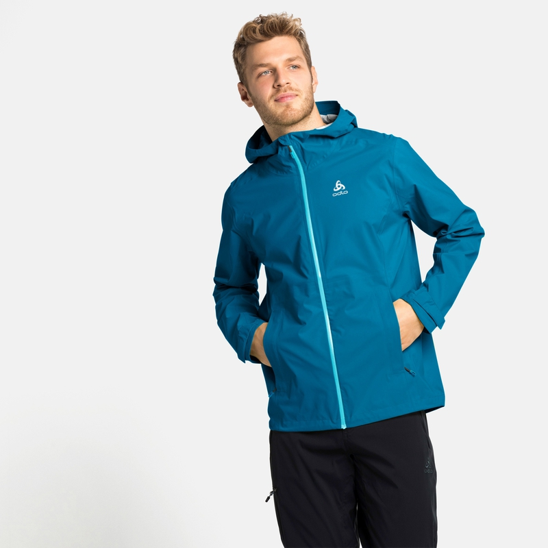 Men's AEGIS 2.5L WATERPROOF Hardshell Jacket, mykonos blue, large
