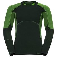EVOLUTION X-WARM baselayer shirt, black - safety yellow, large