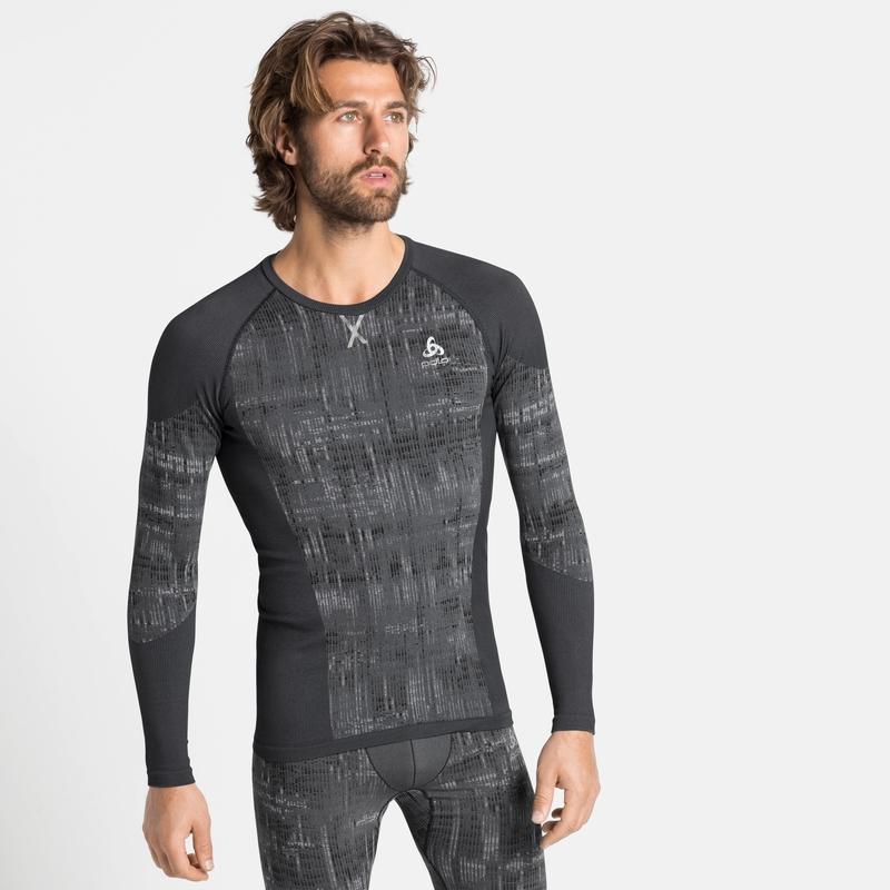 Herren BLACKCOMB Base Layer Shirt, black, large