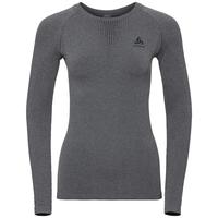 Sous-vêtement technique T-shirt manches longues PERFORMANCE WARM pour femme, grey melange - black, large