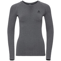 PERFORMANCE WARM-basislaagtop met lange mouwen voor dames, grey melange - black, large