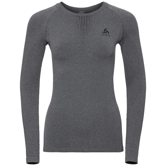 Women's PERFORMANCE WARM Long-Sleeve Base Layer Top, grey melange - black, large
