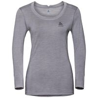 NATURAL + LIGHT Langarm-Shirt, grey melange, large