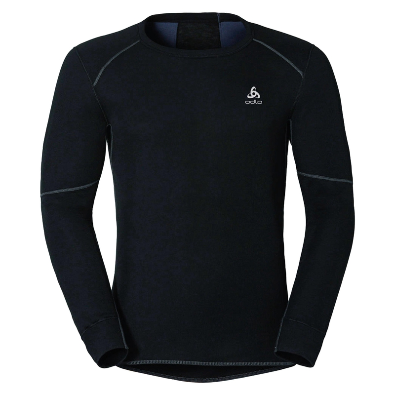 Men's ACTIVE X-WARM Long-Sleeve Base Layer Top, black, large