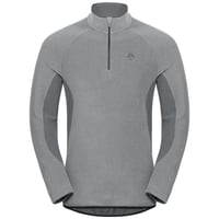 Men's ROYALE 1/2 Zip Midlayer, platinum grey - odlo steel grey - stripes, large