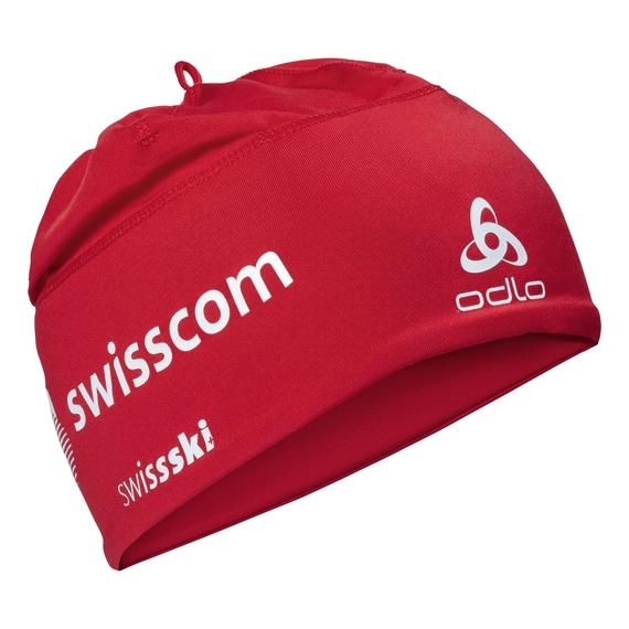 POLYKNIT FAN WARM Hat, Swiss Fan with Swisscom 2010, large