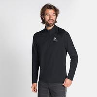 Men's CERAMIWARM ELEMENT Half-Zip Long-Sleeve Midlayer Top, black, large