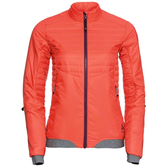 Jacket COCOON S Zip IN, hot coral, large