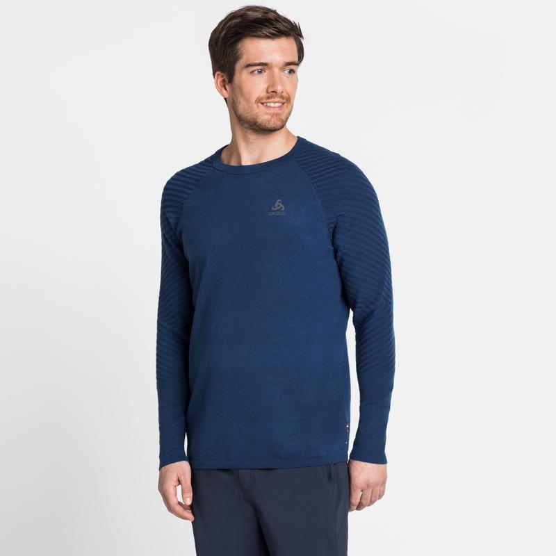 Men's UNITY KINSHIP LIGHT Midlayer Top, estate blue melange, large