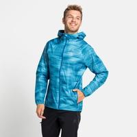 Men's FLI 2.5L WATERPROOF PRINT Hardshell Jacket, horizon blue - graphic SS21, large