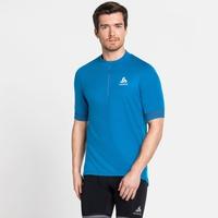 Men's ELEMENT Short-Sleeve 1/2 Zip Cycling Jersey, blue aster, large
