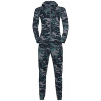 ACTIVE WARM ECO KIDS One-Piece Base Layer Suit, odlo steel grey melange - jaded, large