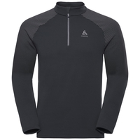 Men's SNOWCROSS 1/2 Zip Midlayer, odlo graphite grey, large