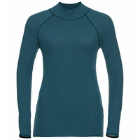 Women's PURE WOOL Long-Sleeve Baselayer Top, submerged, large