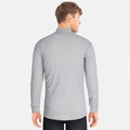 Men's ACTIVE WARM Turtle-Neck Long-Sleeve Base Layer Top, grey melange, large