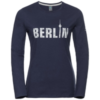 Shirt l/s crew neck CITY PROGRAM, peacoat Berlin, large