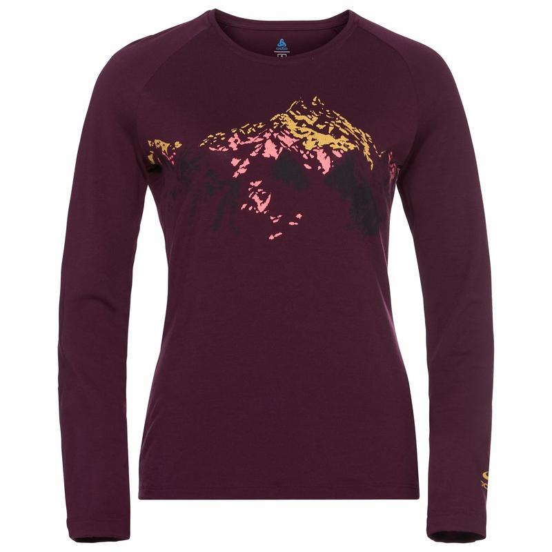 Concord Summit Print Langarm-Shirt, winetasting, large