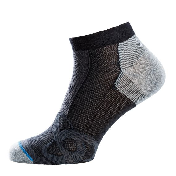 Socks low cut LIGHT, black - grey melange, large