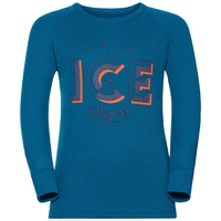 Sous-vêtement technique T-shirt manches longues ACTIVE WARM TREND KIDS (BIG), mykonos blue, large