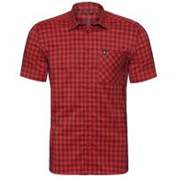 Shirt s/s NIKKO CHECK, red dahlia - fiery red - check, large