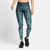 Women's ZEROWEIGHT Running Tights, jaded - graphic SS21, large