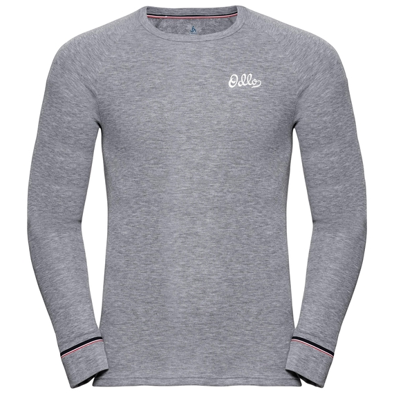ACTIVE WARM ORIGINALS-sportonderkleding met lange mouwen voor heren, grey melange, large