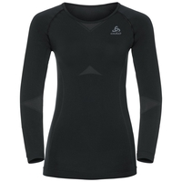 Evolution Light baselayer shirt women, black - odlo graphite grey, large