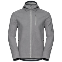 Men's UNION Jacket, odlo concrete grey melange, large