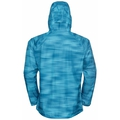 Men's FLI 2.5L WATERPROOF PRINT Hardshell Jacket, horizon blue - graphic SS21, large