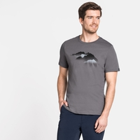 T-Shirt Nikki Print, odlo steel grey - mountain print SS20, large