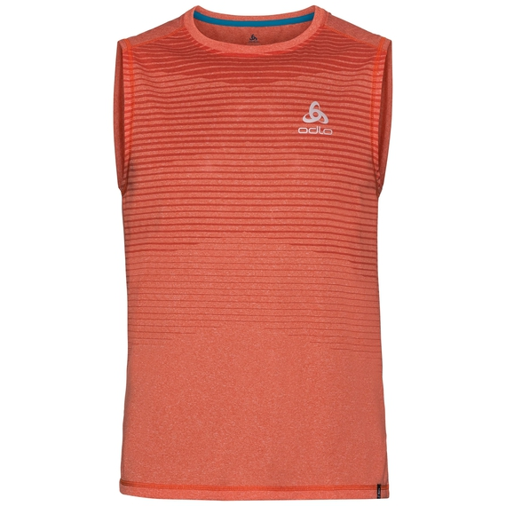 BL TOP Crew neck Tank AION, flame melange - placed print SS18, large