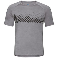 Men's CONCORD T-Shirt, grey melange - mountain stripe SS19, large