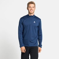Midlayer con 1/2 zip ALAGNA da uomo, estate blue, large