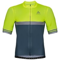 Men's ZEROWEIGHT CERAMICOOL Short-Sleeve Cycling Jersey, safety yellow (neon) - bering sea, large