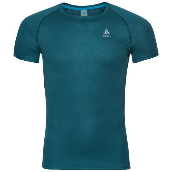 Naadloze onderkleding top met Ronde hals k/m active F-DRY LIGHT, blue coral, large