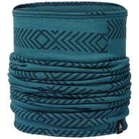 NATURAL 100% MERINO WARM Tube, blue coral - AOP FW18, large