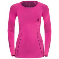 EVOLUTION WARM Muscle Force Baselayer Shirt Damen, pink glo - peacoat, large
