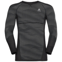 Men's BLACKCOMB Long-Sleeve Base Layer Top, black - odlo concrete grey - silver, large