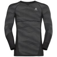 Herren BLACKCOMB Funktionsunterwäsche Langarm-Shirt, black - odlo concrete grey - silver, large