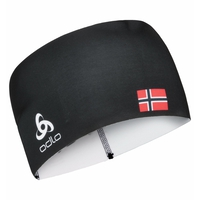 Bandeau COMPETITION FAN WARM, black -  NORWEGIAN flag, large
