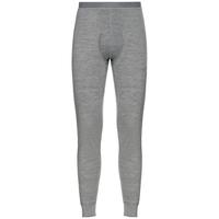 Men's NATURAL 100% MERINO WARM Base Layer Pants, grey melange - grey melange, large