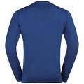 SUW Top Crew neck l/s Natural 100% MERINO Warm, sodalite blue - grey melange, large