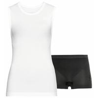 Damen PERFORMANCE LIGHT Sportunterwäsche-Set, white - black, large