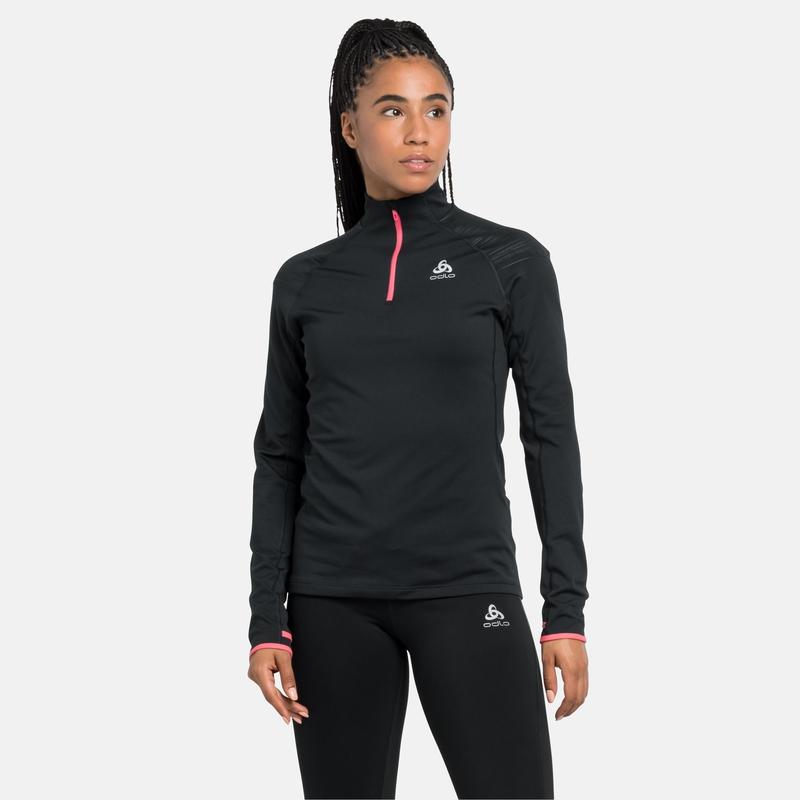 The AXALP Ceramiwarm mid layer half zip, black - siesta, large
