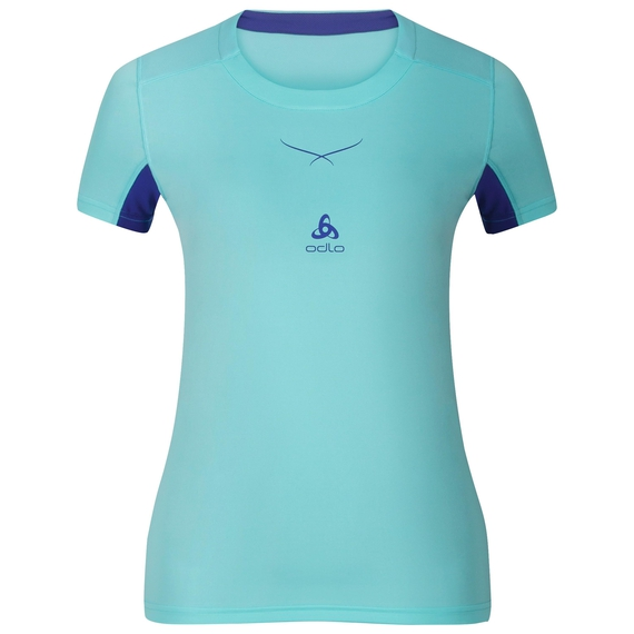 T-shirt baselayer CeramiCool femme, blue radiance - spectrum blue, large