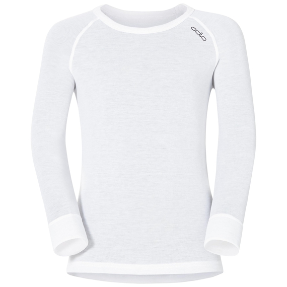 ACTIVE WARM KIDS Long-Sleeve Base Layer Top, white, large
