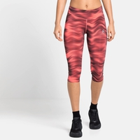 Damen ESSENTIAL SOFT PRINT 3/4-Lauftights, siesta - graphic SS21, large